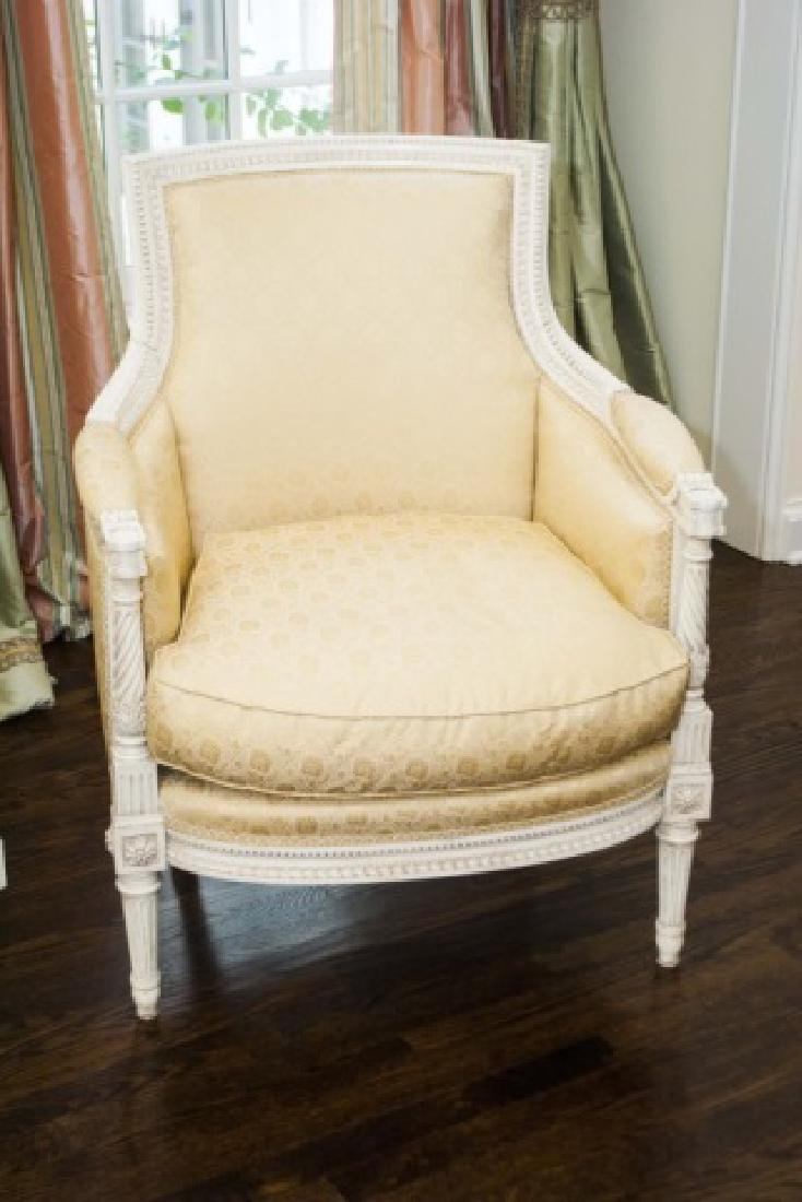 Pair of Custom Made & Upholstered French Armchairs - 3