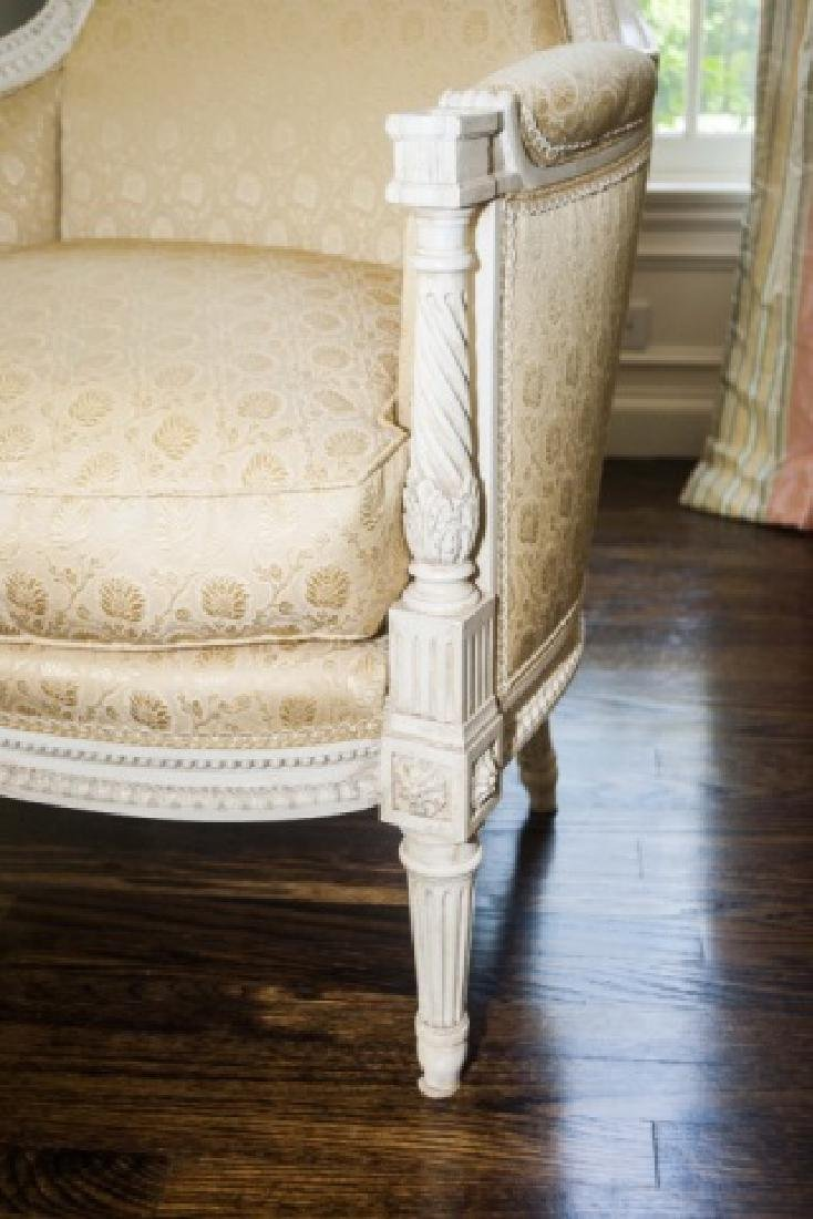 Pair of Custom Made & Upholstered French Armchairs - 4