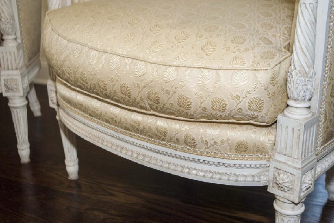 Pair of Custom Made & Upholstered French Armchairs - 5