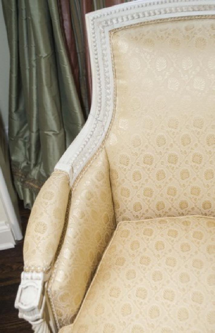 Pair of Custom Made & Upholstered French Armchairs - 6