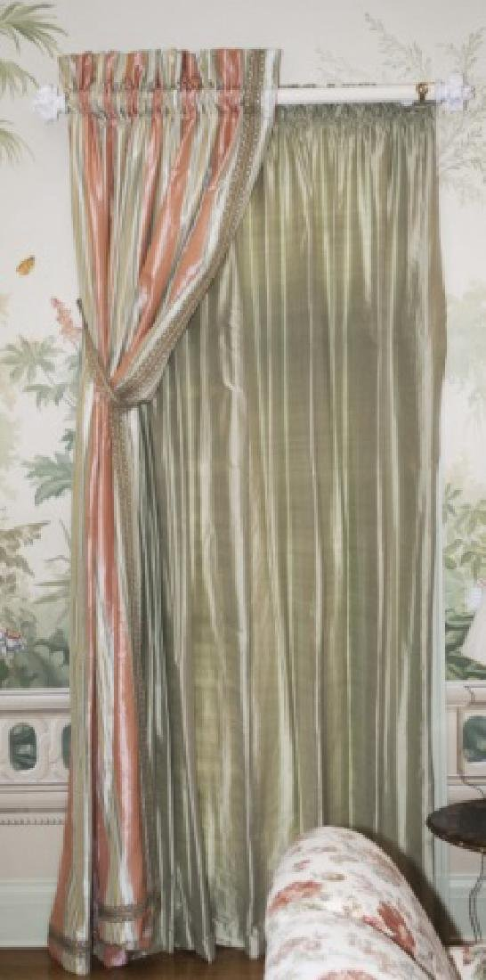 Pair of Quality Custom Made Silk Drapes & Panels
