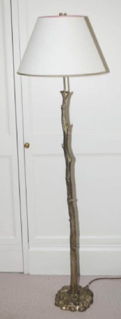 Contemporary Vaughn Bronze Tree Form Floor Lamp