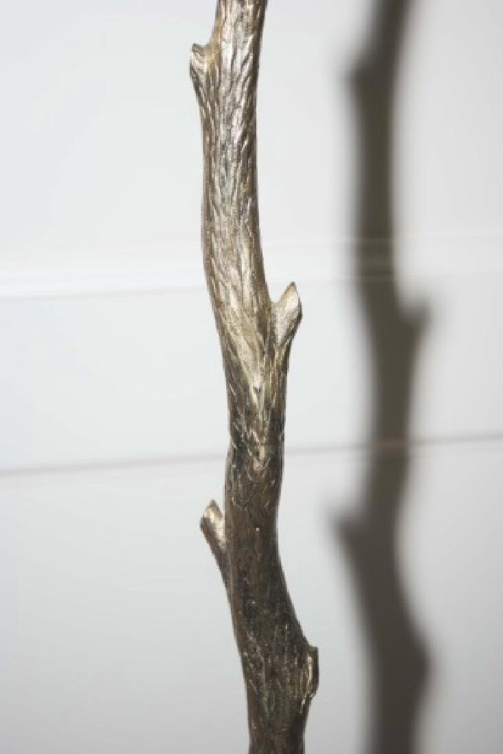 Contemporary Vaughn Bronze Tree Form Floor Lamp - 3