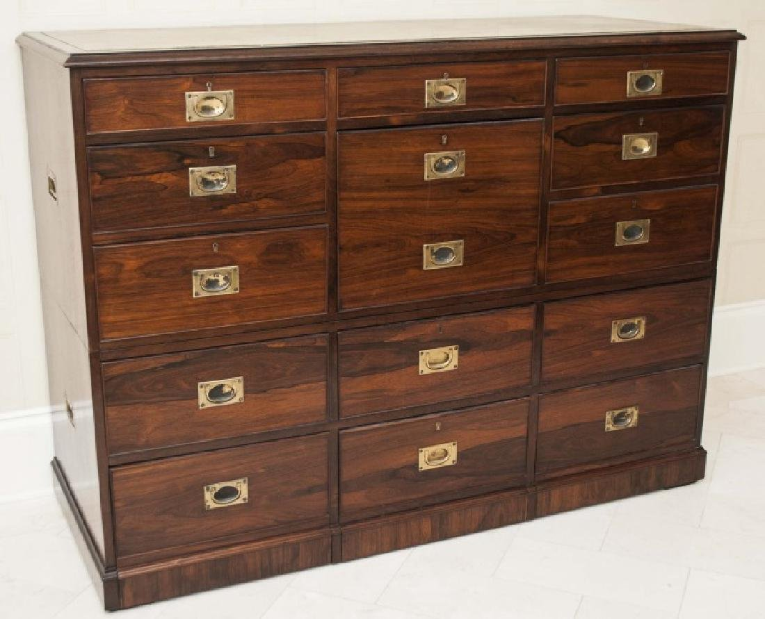 Large Antique 19th C English Campaign Chest