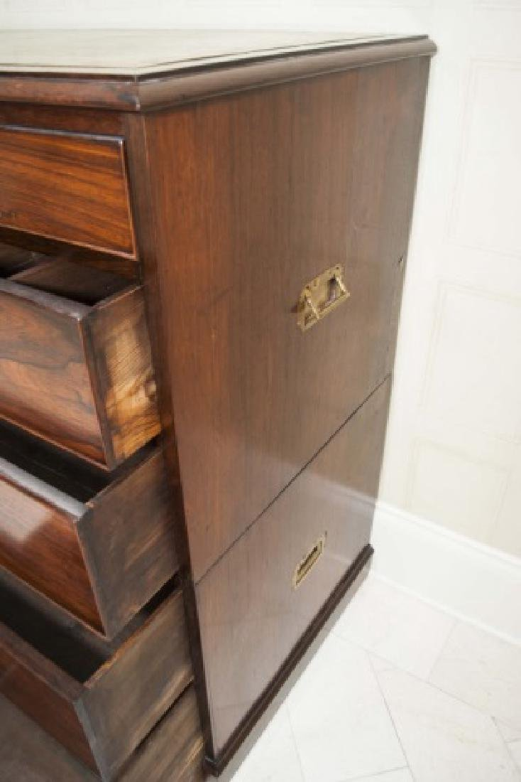 Large Antique 19th C English Campaign Chest - 6