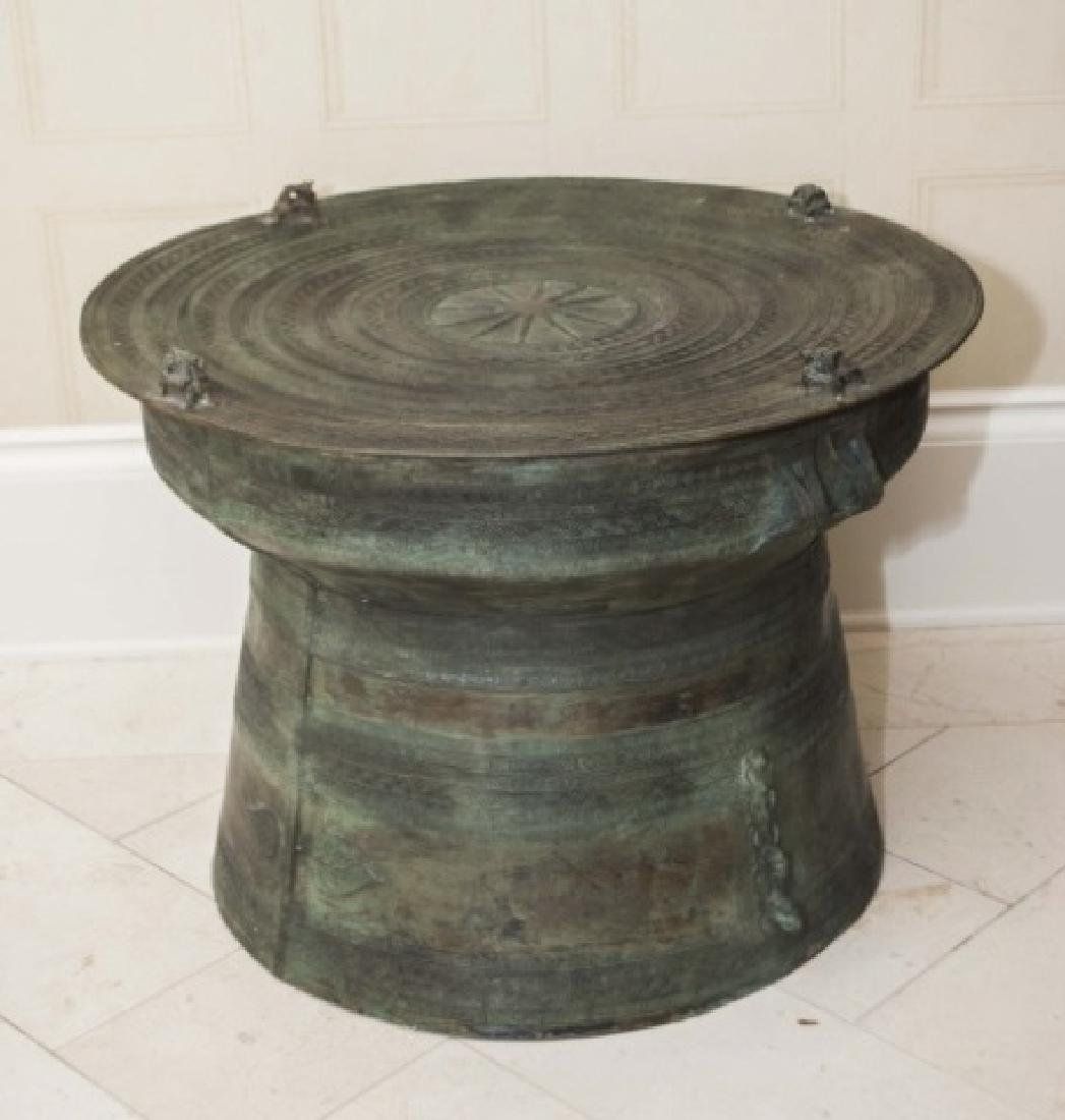 Holly Hunt Metal Asian Rain Drum Style Table