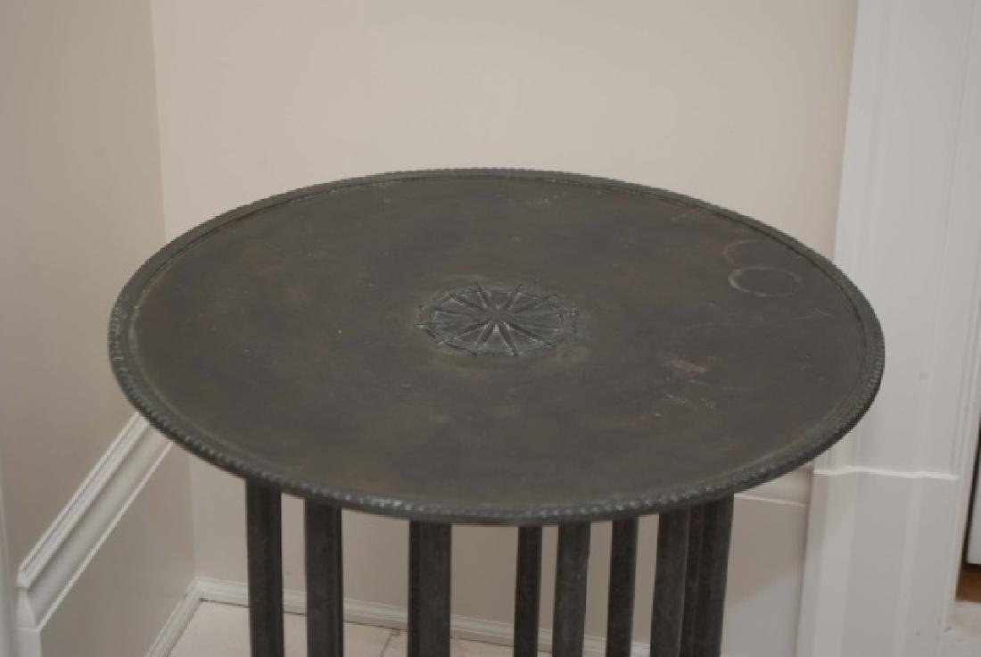 Holly Hunt Bronze & Wood Contemporary End Table - 2