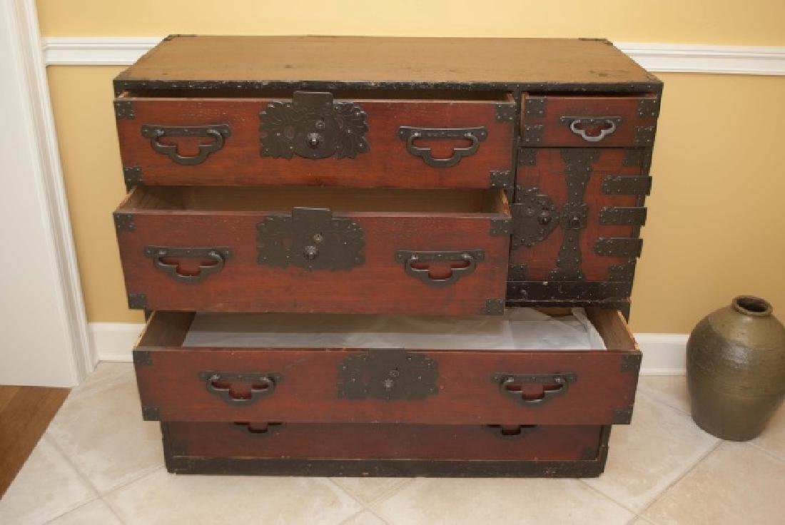 Antique Japanese Handmade Wood Chest of Drawers - 2