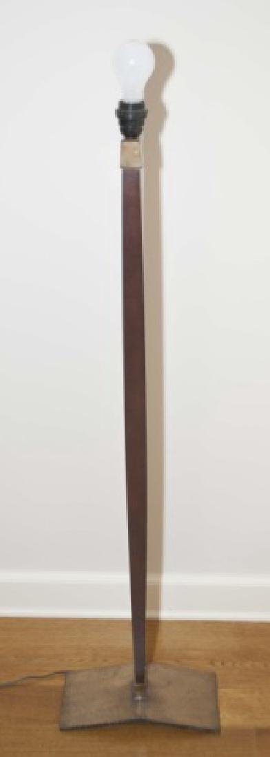 Holly Hunt Contemporary Two Tone Metal Floor Lamp