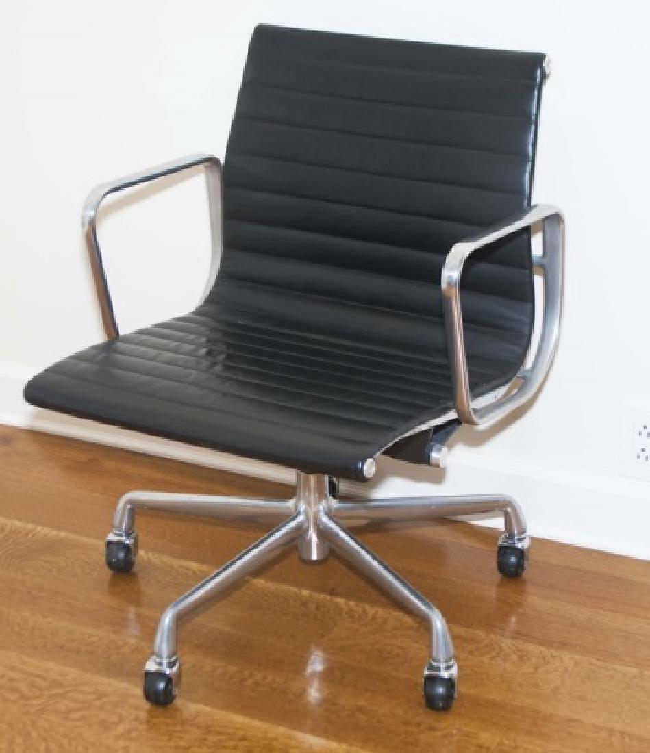 Modern Black Leather Herman Miller Desk Chair