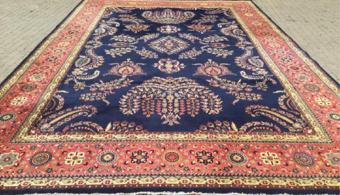 Large Persian/Oriental Hand-Knotted Wool Rug