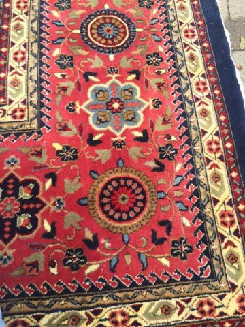 Large Persian/Oriental Hand-Knotted Wool Rug - 4