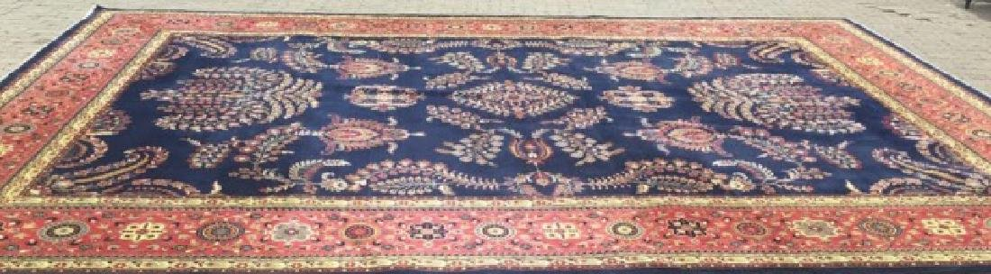 Large Persian/Oriental Hand-Knotted Wool Rug - 6