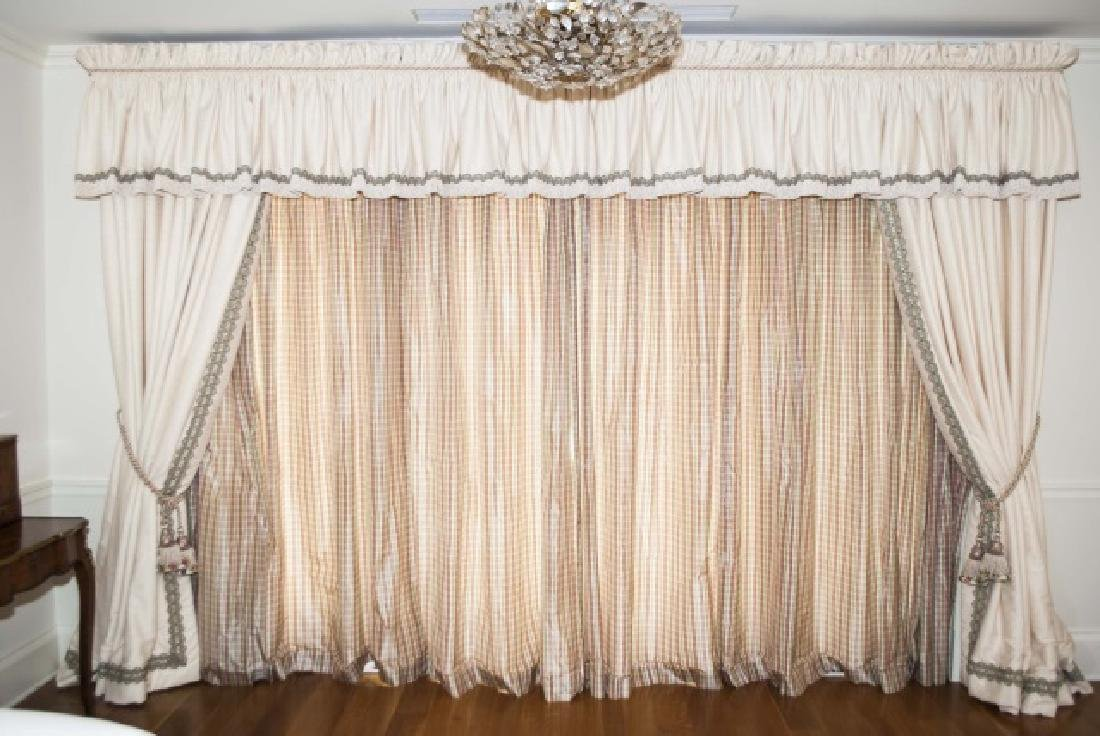 Large Custom Made Silk Curtain Panels & Drapes