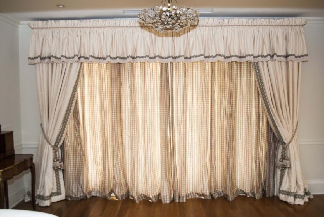 Large Custom Made Silk Curtain Panels & Drapes - 2
