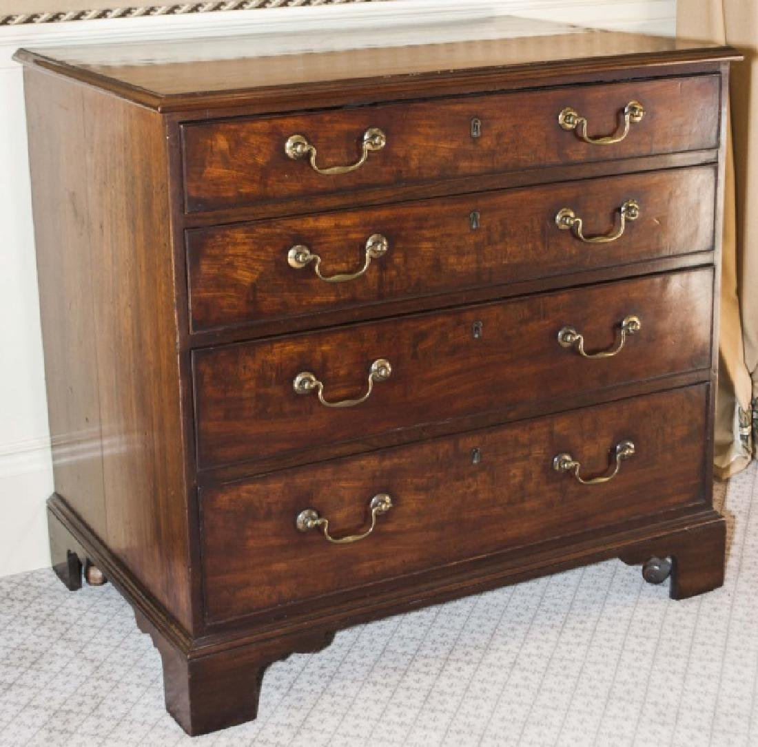 Antique English 19th C George III Chest of Drawers