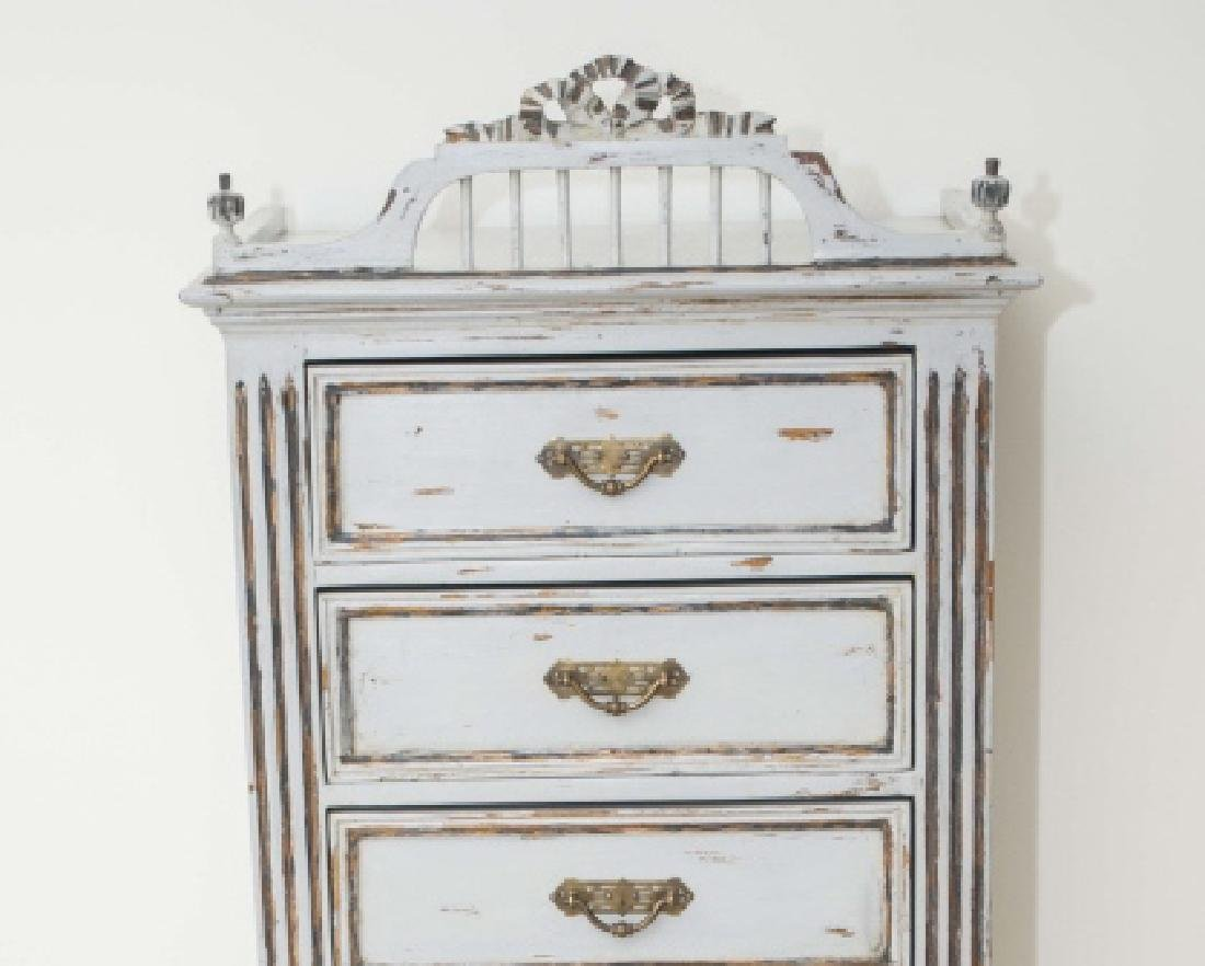 Antique French Custom Painted Seven Drawer Chest - 2