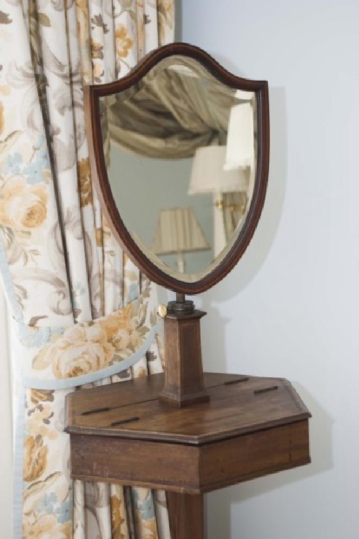 Antique C 1900 English Shaving Stand w Mirror - 3