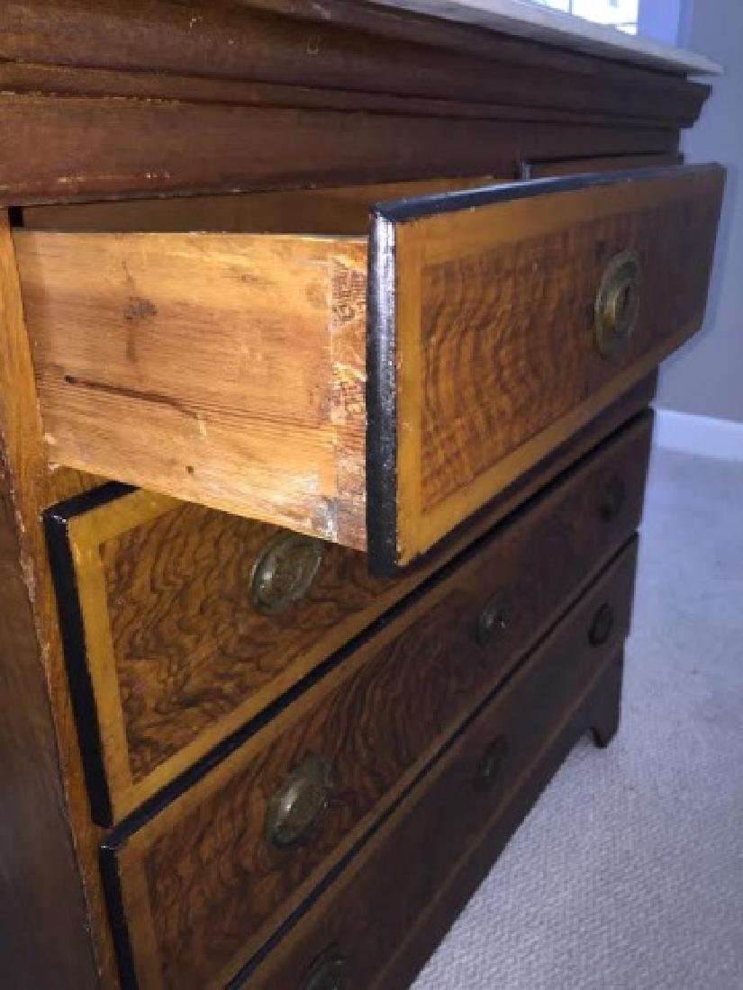 Victorian Marble Top Dresser w Beveled Edge - 4