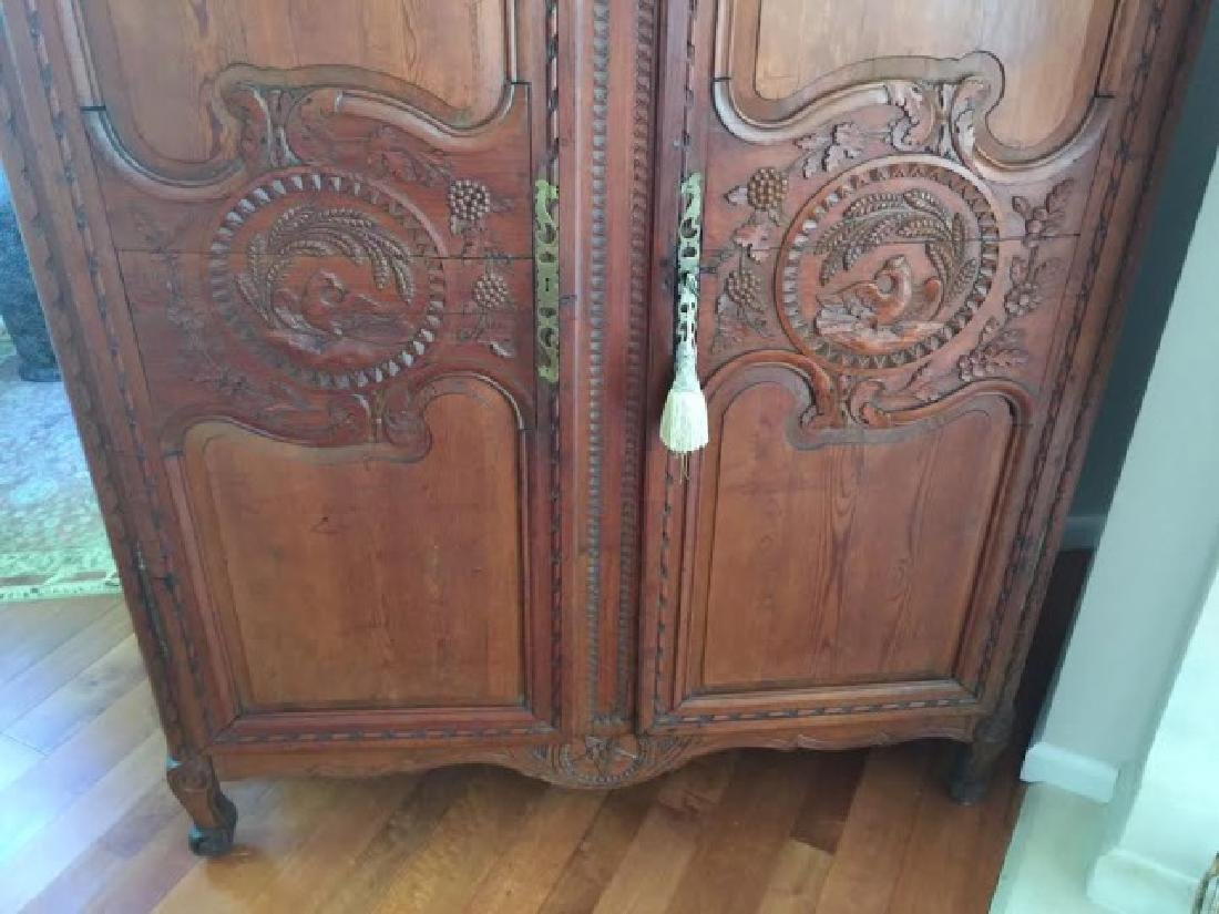Antique French Country Armoire w Custom Bar Interior - 5