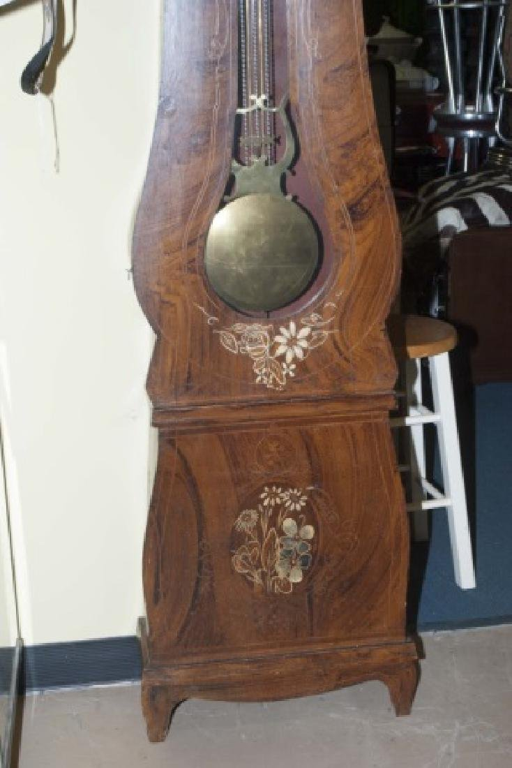 19th C French Faux Burl Wood Rounded Case Clock - 3
