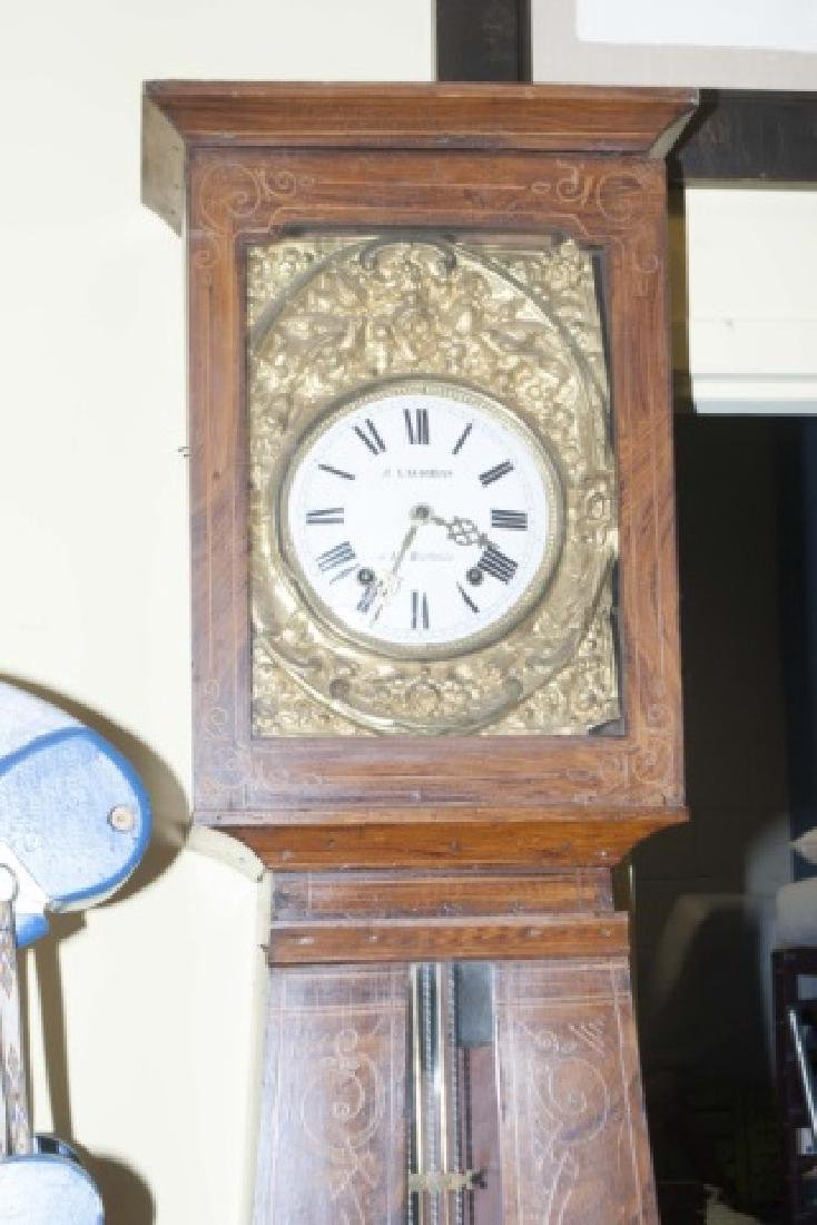 19th C French Faux Burl Wood Rounded Case Clock - 5