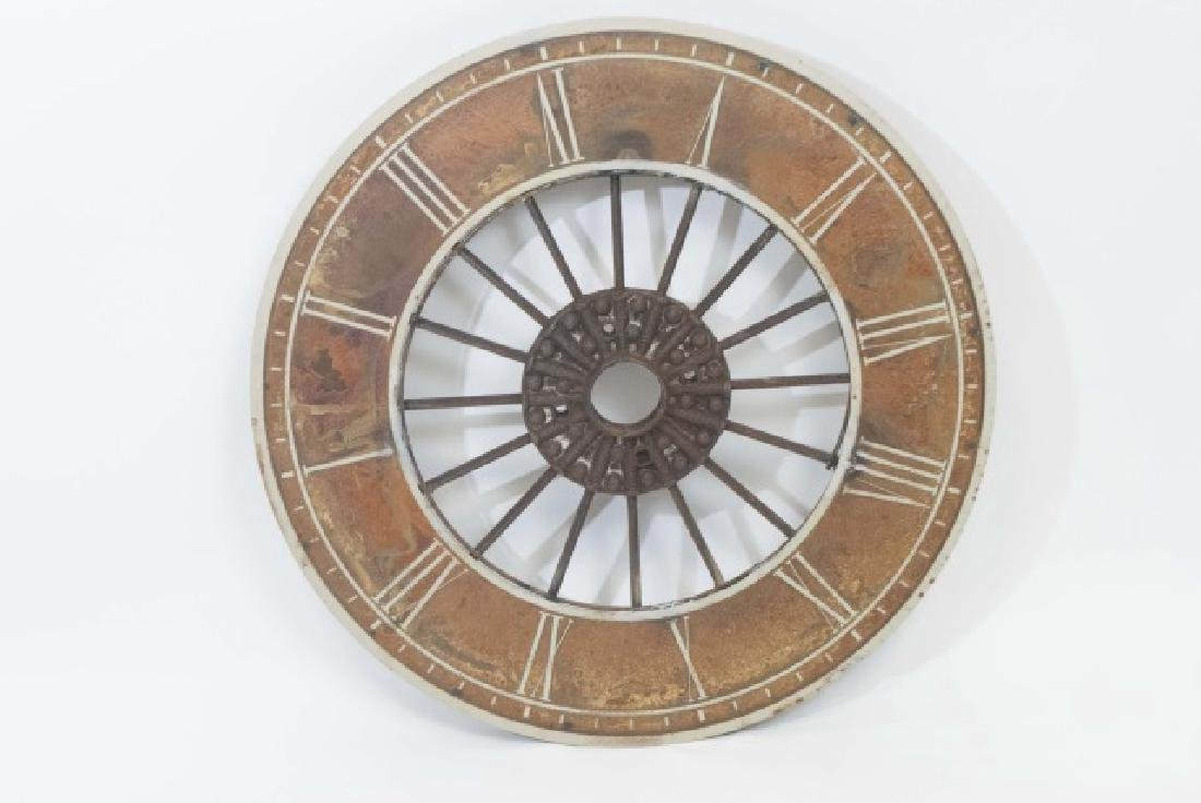 Decorative Round Painted Metal Clock
