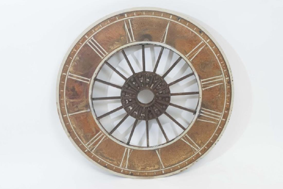 Decorative Round Painted Metal Clock - 3