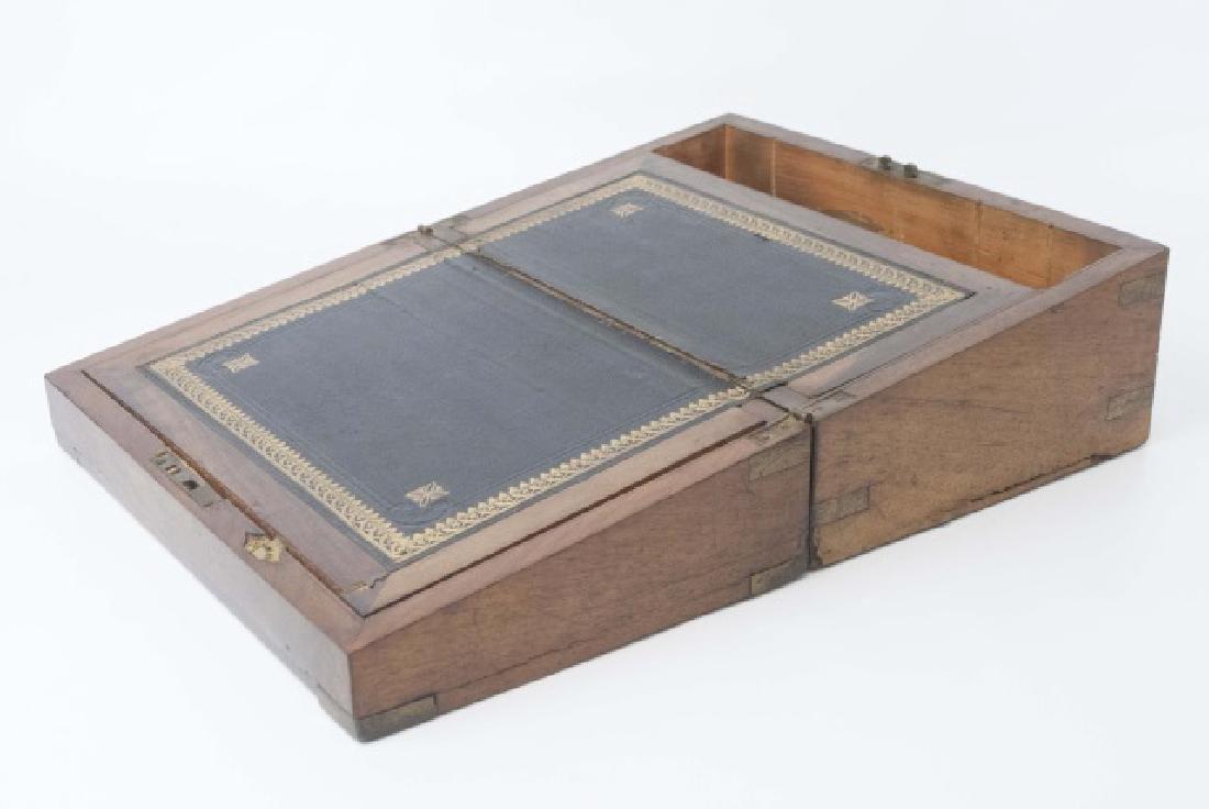 Antique Dresser Top Wooden Hinged Box