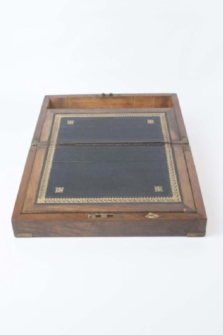 Antique Dresser Top Wooden Hinged Box - 2