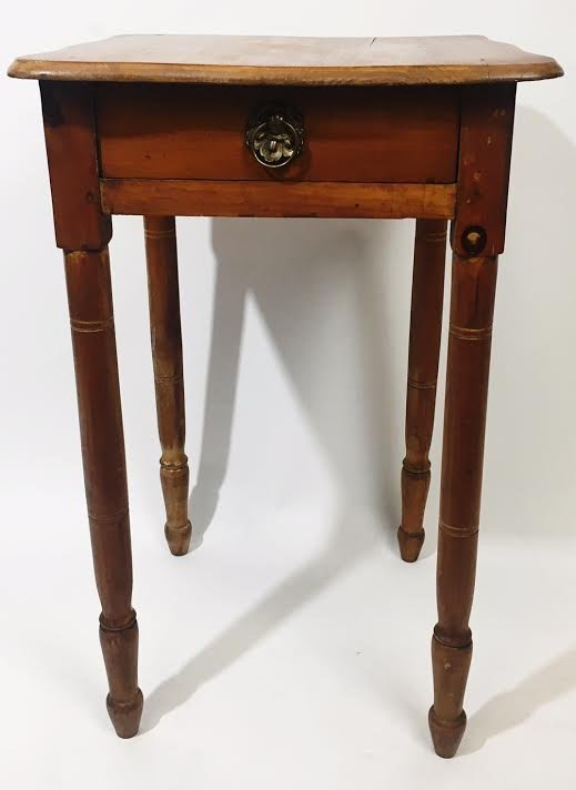 Antique Pine Accent~End Table with Drawer