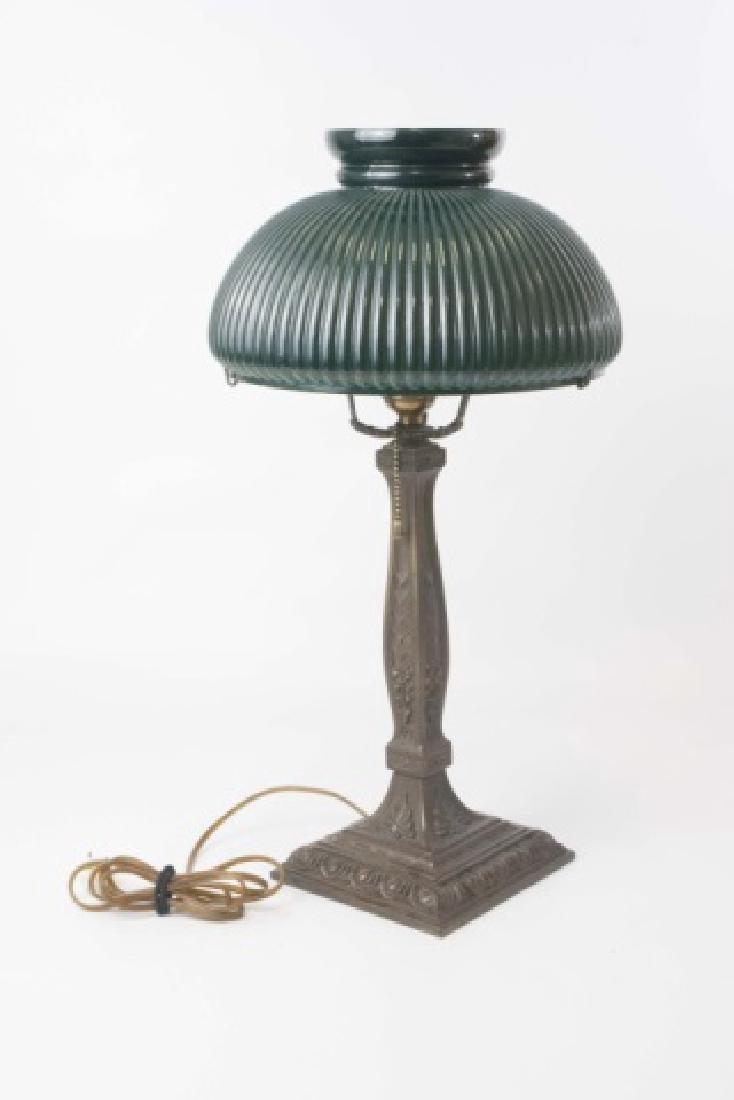 Wilkinson Co. Heavy Metal Base Lamp-Glass Shade