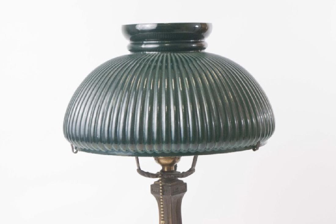 Wilkinson Co. Heavy Metal Base Lamp-Glass Shade - 3