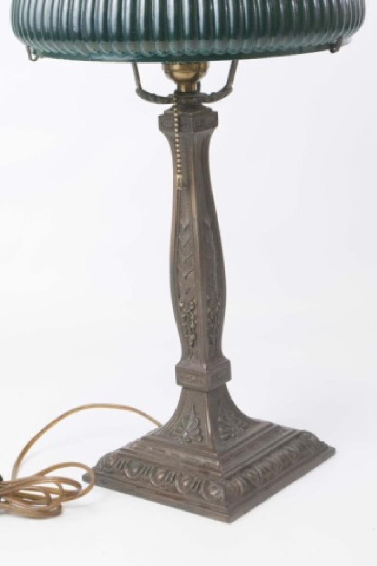 Wilkinson Co. Heavy Metal Base Lamp-Glass Shade - 4