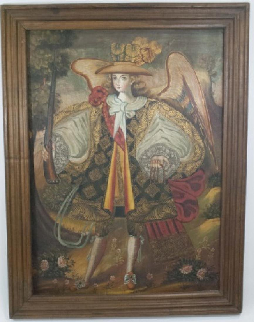 Framed Oil Painting on Canvas of Portuguese Angel