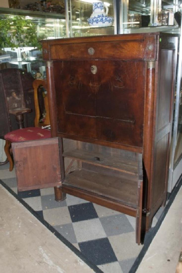 Antique 19th C Continental Biedermeier Secretary - 5