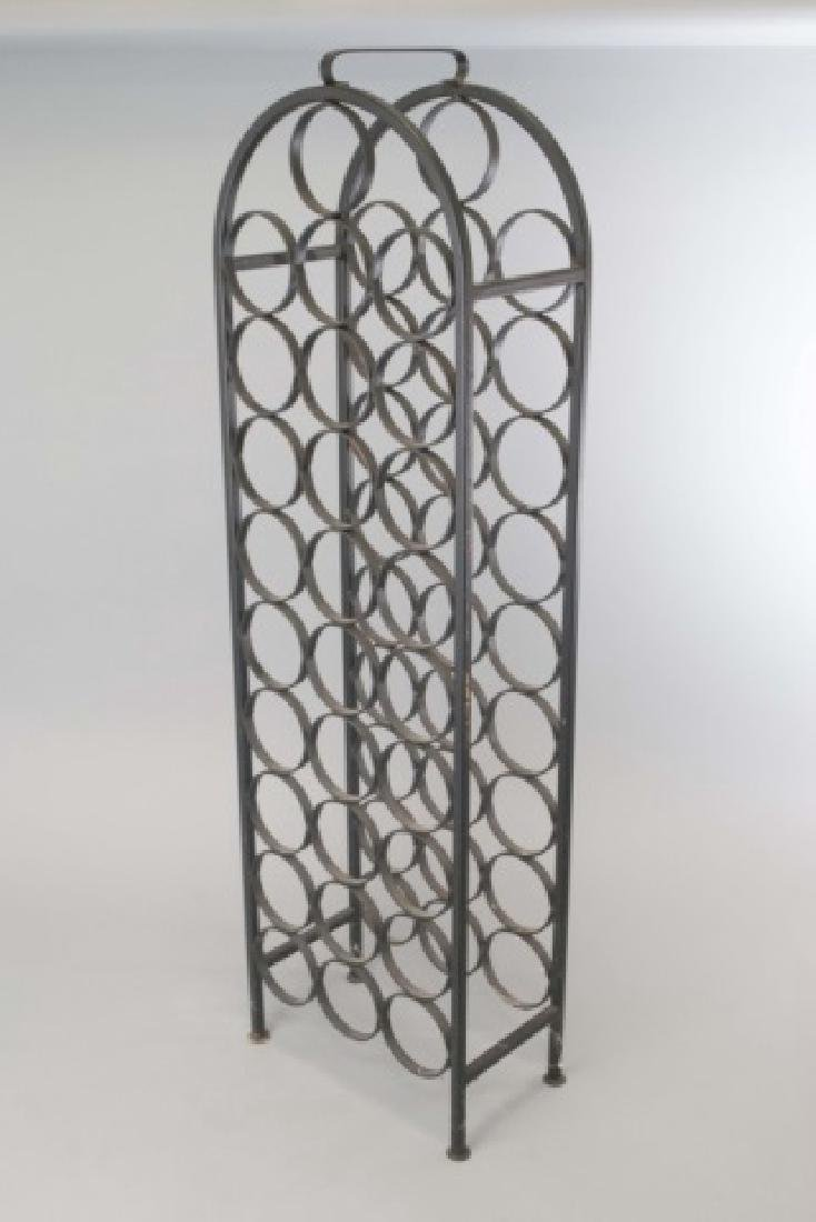 Wrought Iron Wine / Champagne Bottle Stand - 2