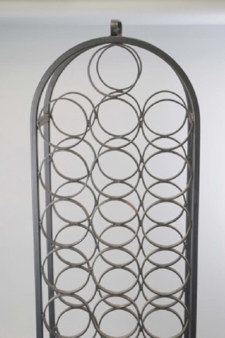 Wrought Iron Wine / Champagne Bottle Stand - 3