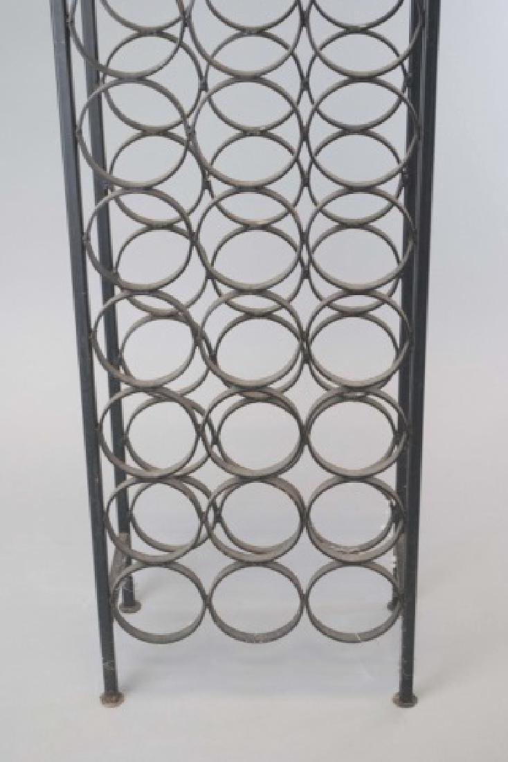 Wrought Iron Wine / Champagne Bottle Stand - 4
