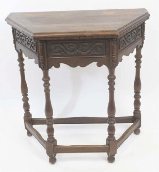 Amazing Antique Jacobean Style Carved Wood Console Table Ibusinesslaw Wood Chair Design Ideas Ibusinesslaworg