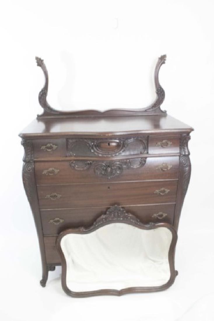 Antique Rococo / Baroque Style Dresser & Mirror