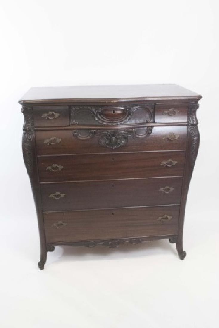 Antique Rococo / Baroque Style Dresser & Mirror - 5