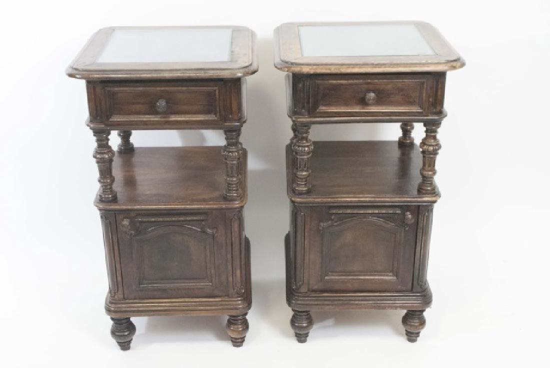 Pair Antique Rococo / Baroque Style Nightstands