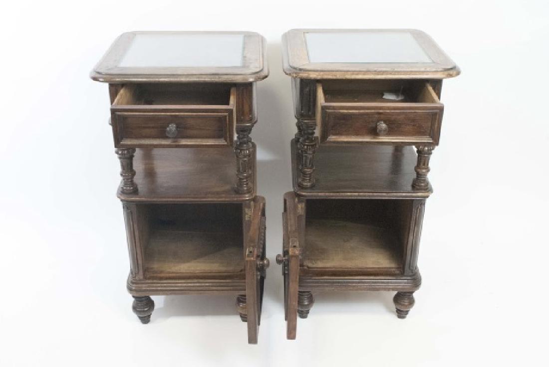 Pair Antique Rococo / Baroque Style Nightstands - 3