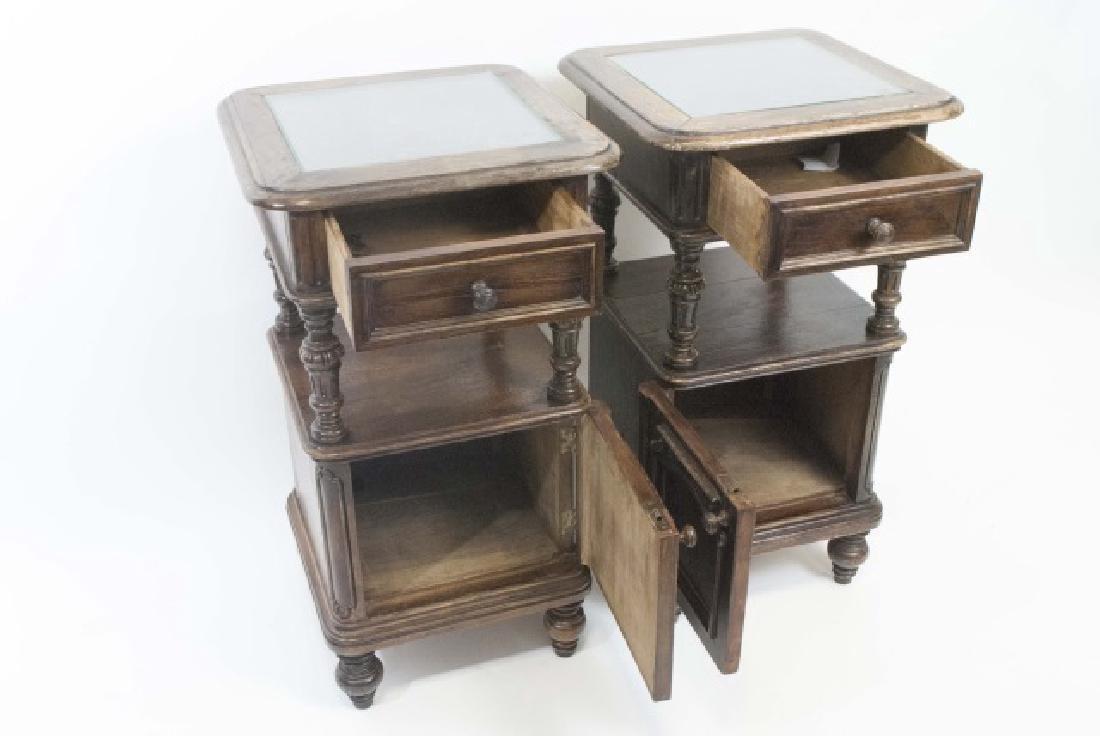 Pair Antique Rococo / Baroque Style Nightstands - 4