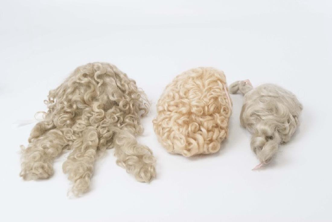Three Wigs for Antique French / German Dolls