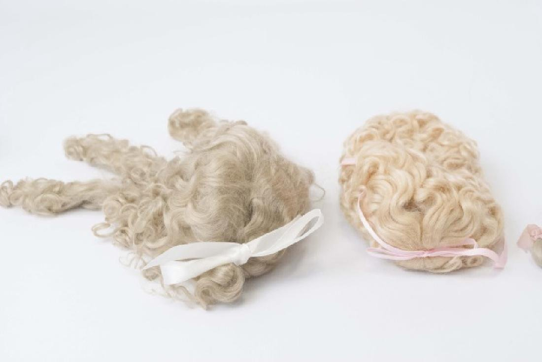 Three Wigs for Antique French / German Dolls - 2