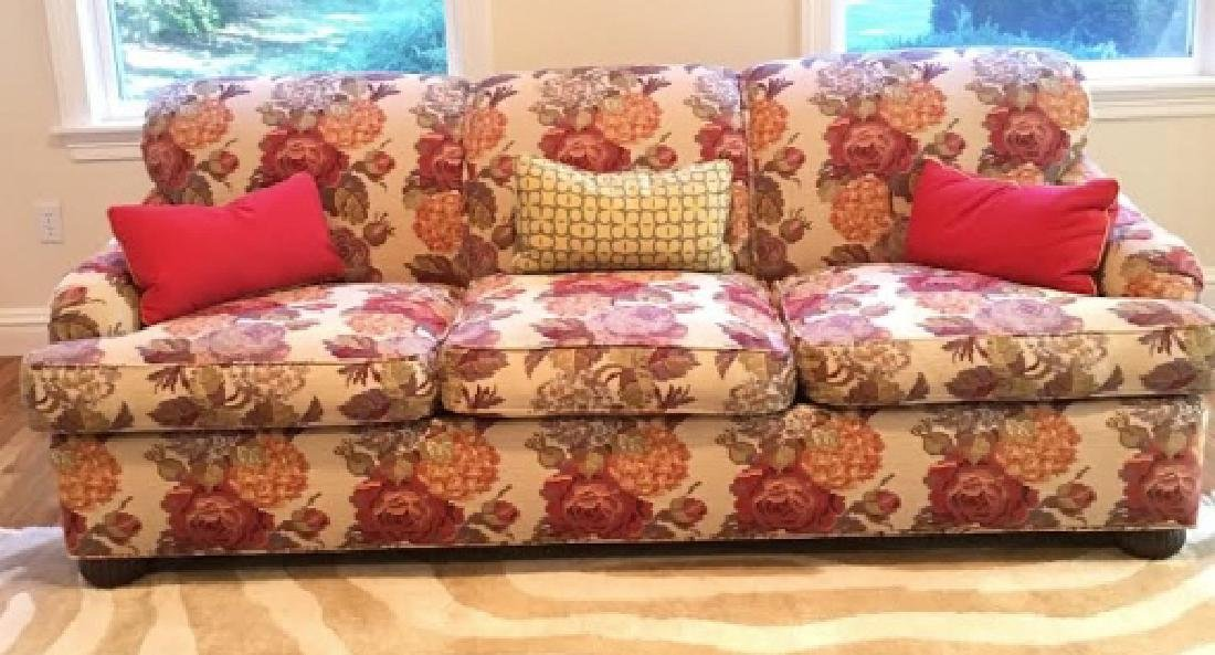 Kravet Couch with Textured Pierre Frey Fabric