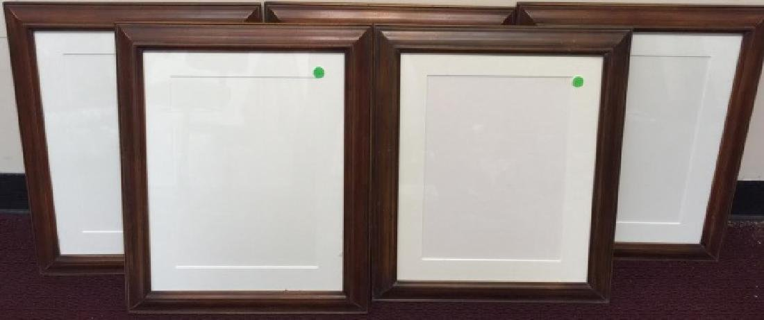 5 Hanging Wood Frames with Cream-White Matting