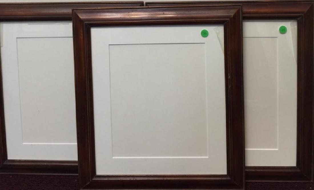 3 Hanging Wood Frames with Cream-White Matting
